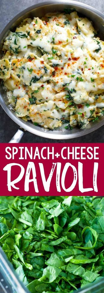 Creamy Spinach and Cheese Ravioli
