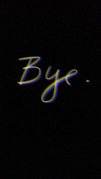 Iphone Wallpaper - #iphonewallpaper #wallpaper #background #tumblr #hipster #grunge #black #bye #ho