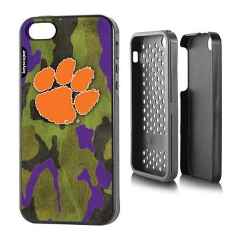 sports shoes 9add1 18825 Clemson Tigers Apple iPhone 5SE 5s 5 Rugged Case