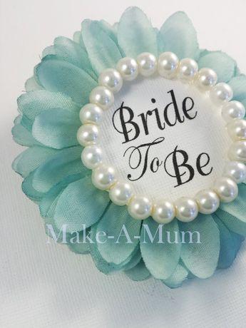 tiffy blue hand dyed bridal shower corsage bridal shower favors wedding gift