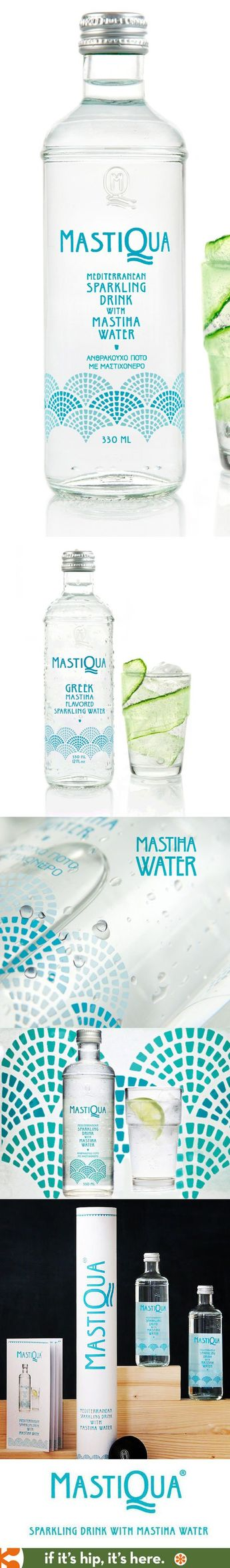 Mastiqua Sparkling drink from Greece is made with Mastiha water and has the very appropriate 'mosaic' design on their bottle.: