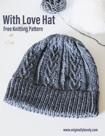 With Love Hat Knitting Pattern | Originally Lovely