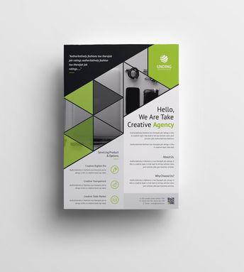 Triangle Elegant Premium Business Flyer Template 001063 - Template Catalog