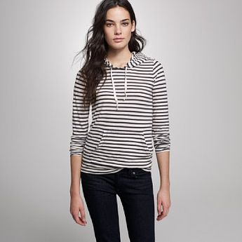 Drapey Stripe Pullover Hoodie by J.Crew: Looks like nautical stripes are in for Spring! $65