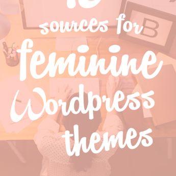 10 Sources for Feminine WordPress Themes - A Prettier Web