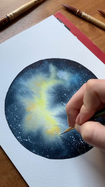 Learn to paint stunning watercolor galaxies in my Skillshare class!