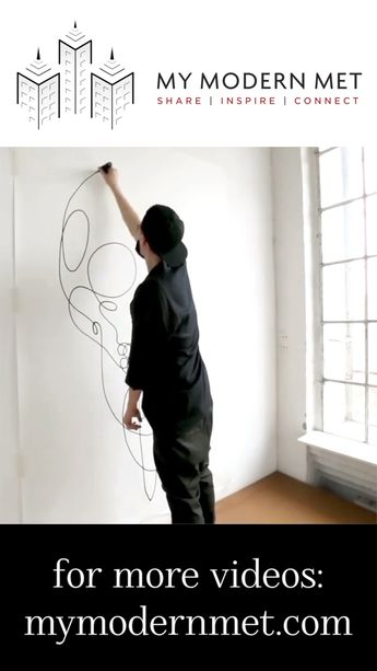 Watch how brilliant artists can make you see a dozen different things with one long line. #art #drawing #artist