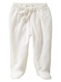 Organic terry footed pants