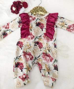 Lily Rose Floral Velvet Jumpsuit