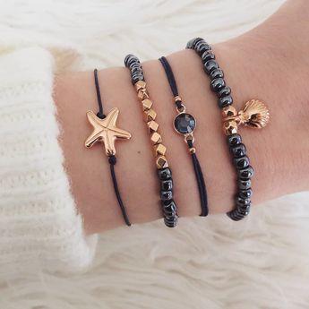 Bohemian Bracelets Bangles Set Vintage Bead Boho Charm Bracelet For Women Jewelry Accessories