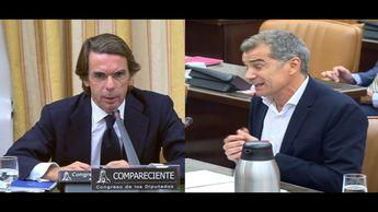 Toni Cantó cara a cara con Jose María Aznar Comisión Investigación financiación PP