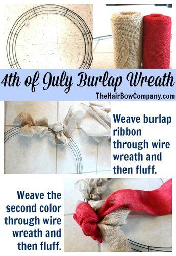 4th of July Burlap Wreath