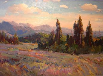 Berberian - Late Summer Afternoon (Sawtooth) 30x40 #contemporary, #design, #composition, #art, #painting, #landscape