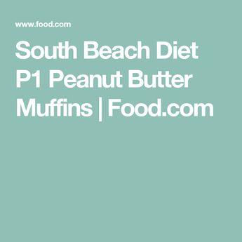 South Beach Diet P1 Peanut Butter Muffins