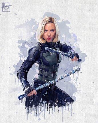Les super-héros Marvel Infinity War par by Mayank Kumar