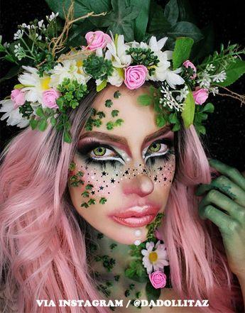 13 Halloween Makeup Ideas For Pink Hair