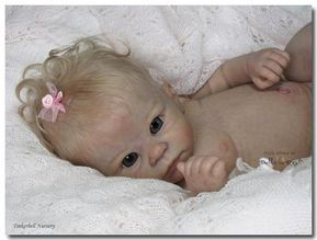 Holly - A Lovely Open Eye Doll Kit from The Cradle