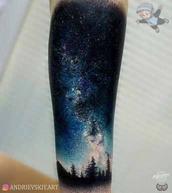 Тату космос, Tattoo,space