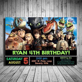 Pete S Dragon Invitation Birthday Party Invitation Card