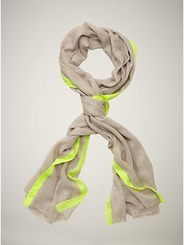 neon border scarf