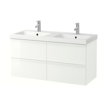 IKEA - GODMORGON / ODENSVIK Bathroom vanity high gloss white, Dalskär