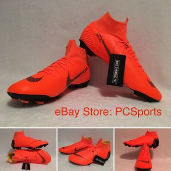 new concept b5c08 ff43d Details about Men s Nike Mercurial Superfly VI Pro Flyknit FG Orange  AH7368-810 Soccer Size