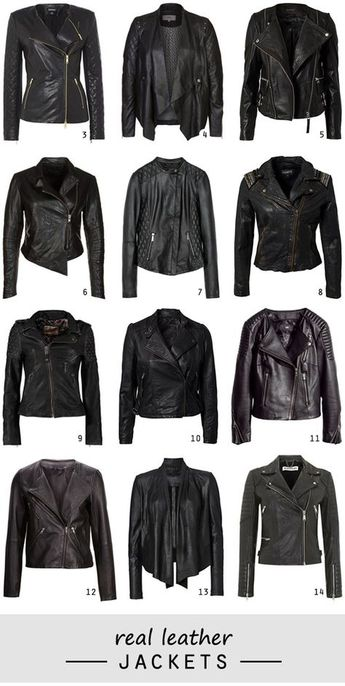 Shopping // black (real) leather jackets