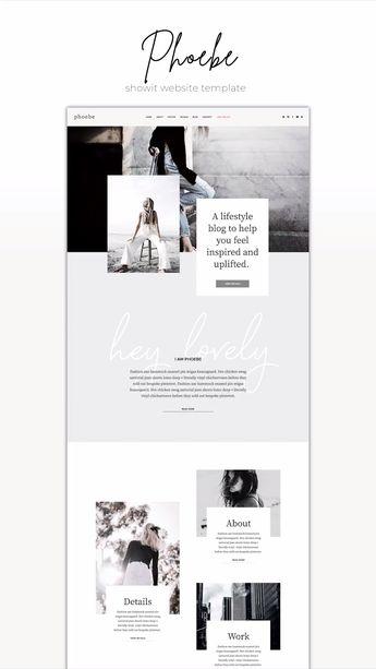 Phoebe  - Showit | The Roar | Web Design for Creatives | Showit Website Templates
