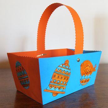 Fabriquer un panier de Pâques en papier rigide