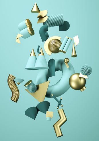 3D - High on Type - Alphabet Poster on Behance