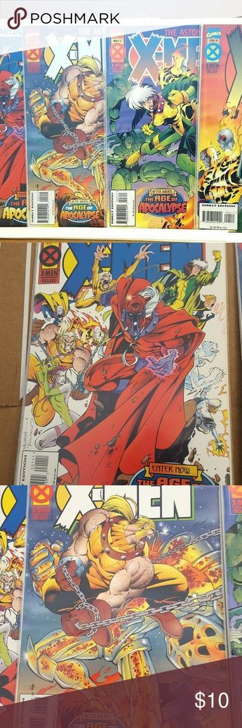 (4) The Astonishing X-Men Age Of Apocalypse Marvel (4) The Astonishing X-Men 1-4 Enter Now The Age Of Apocalypse (1995) Bagged and Boarded Ungraded Marvel Comics Other