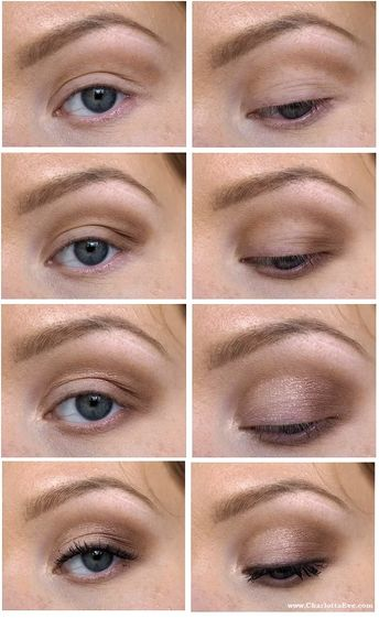 SImple makeup tutorial for hooded eyes and deep set eyes #makeuptrick #eyeshadow #makeuptutorial