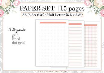 a5 fitness tracker traveler notebook refill printable tn