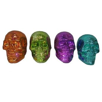 Day of the Dead LED Lit Skull - Assorted Styles