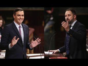 Debate COMPLETO Pedro Sánchez vs Santiago Abascal Pleno de Investidura