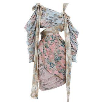 Off Shoulder Hollow Out  Irregular Dress