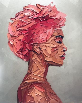 25 Beautiful Modern Textured Palette Knife Paintings by Christine Krainock