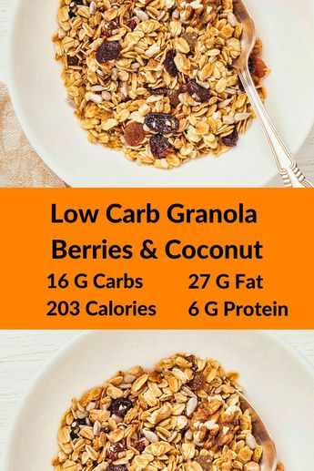 Low Carb Granola Berries &Coconut-Macadamia nuts, coconut flakes, and cacao nibs collide with freeze-dried strawberries and raspberries to create a great low carb keto breakfast sensation in this Macadamia Berry Blast Granola.