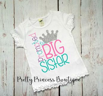 e97f1f68e Big sister shirt - baby shower gift - baby announcement - girl - big sister  -