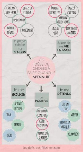 Que faire quand on s'ennuie ? 33 idées intelligentes #lifestyle #lifestyle #change