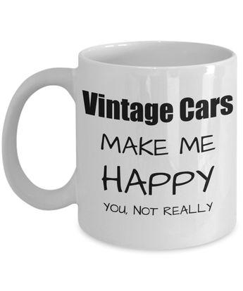 Vintage Cars Lover Gift Funny Collection Car Fan Mug Hobby Birthday Idea Christmas