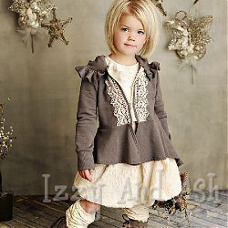Use lace to snaz up a zippered hoodie! Persnickety Fall 2012 - this jacket will arrive in the Persnickety shipment.