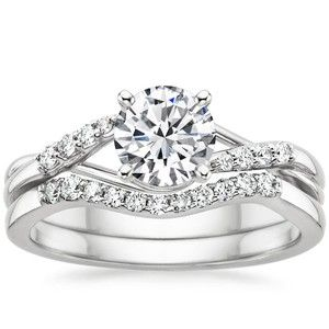 18K White Gold Chamise Diamond Bridal Set