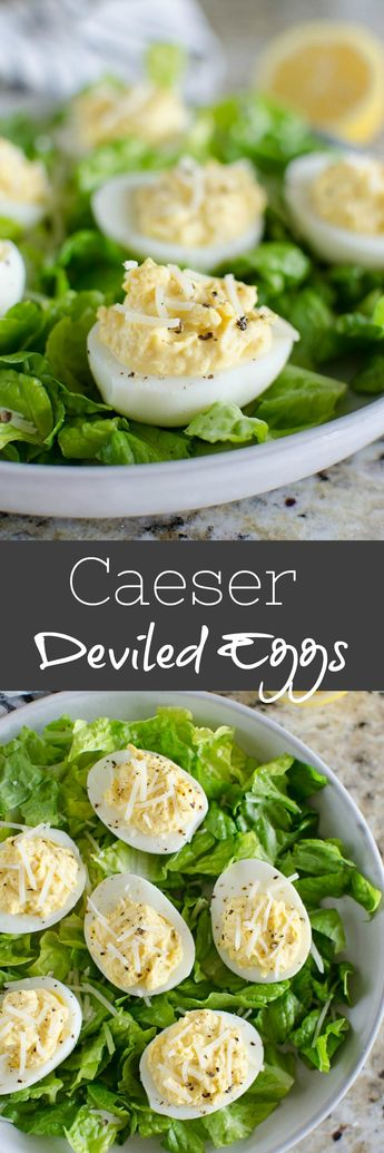 Caesar Deviled Eggs - deviled eggs with the flavor of caesar salad!