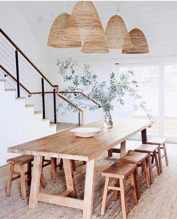 60 Easy Rustic Farmhouse Dining Room Makeover Ideas