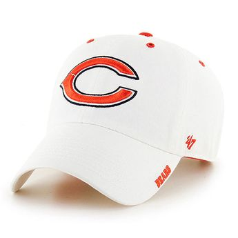 Chicago Bears Adjustable White Ice Clean Up Hat by  47  ChicagoBears  Bears    1b0ccc122