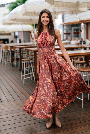 Harper Red Maxi Dress