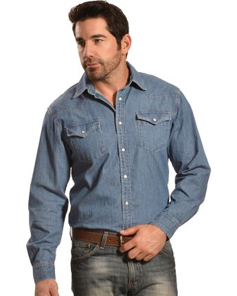 Mountain Khakis Blue Original Mountain Denim Shirt