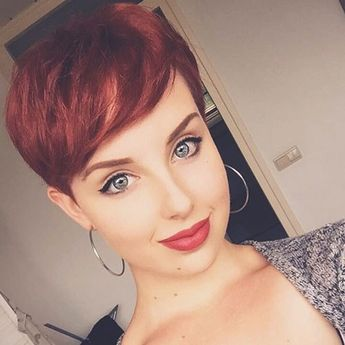 Best New Short Hair with Side Swept Bangs