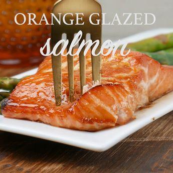 Sweet and Spicy Orange Salmon